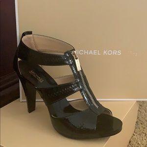 Michael Kors Berkley T Strap Patent Leather Heel